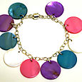 Mother of Pearl Button Charm Bracelet Kit