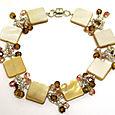 Gold Lip Shell Bracelet