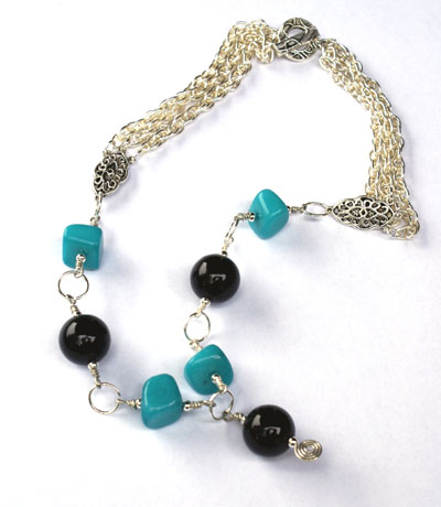 Black and turq necklace web