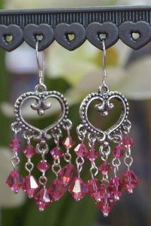 Swarovski boho earrings