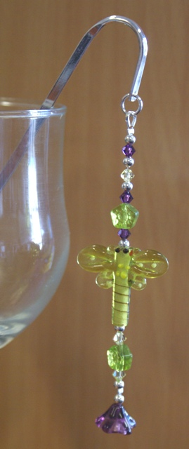 Dragonfly bookmark Green